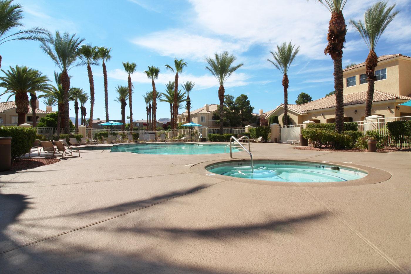 Pool & Hot Tub at La Villa Estates.