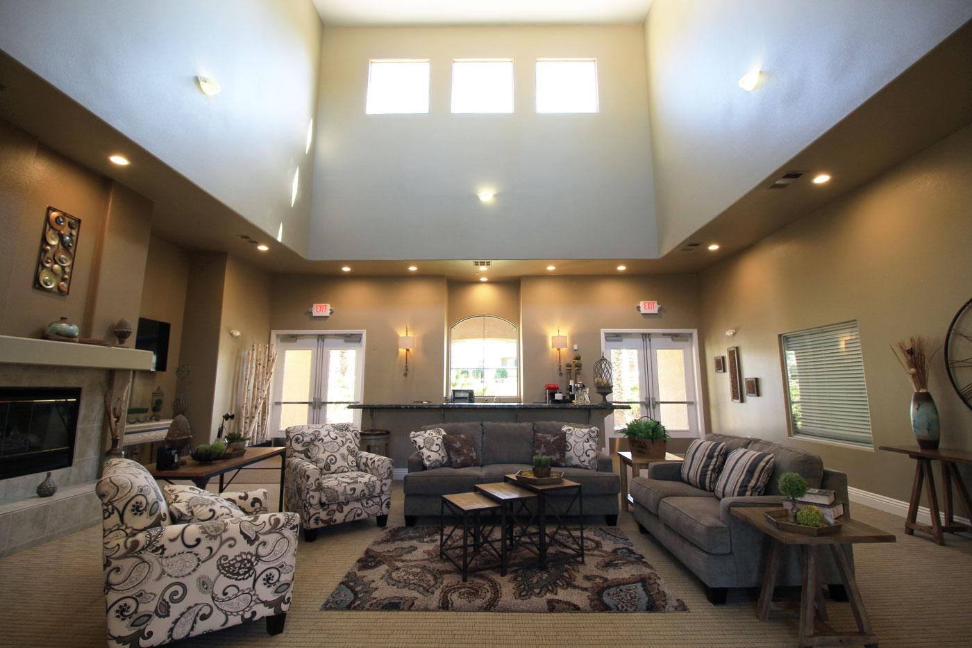 Overview of lounge area at La Villa Estates.