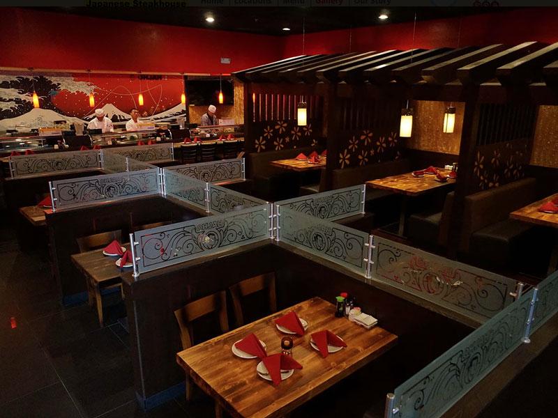 Birdeye view of a Japenese Steakhouse